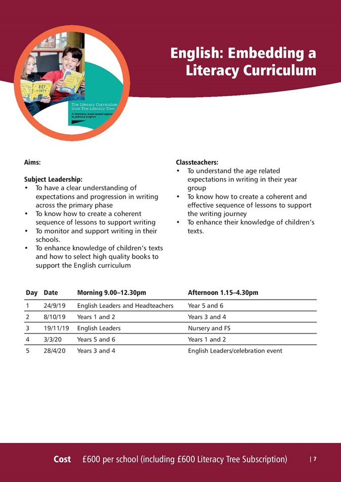 Embedding Literacy Curriculum
