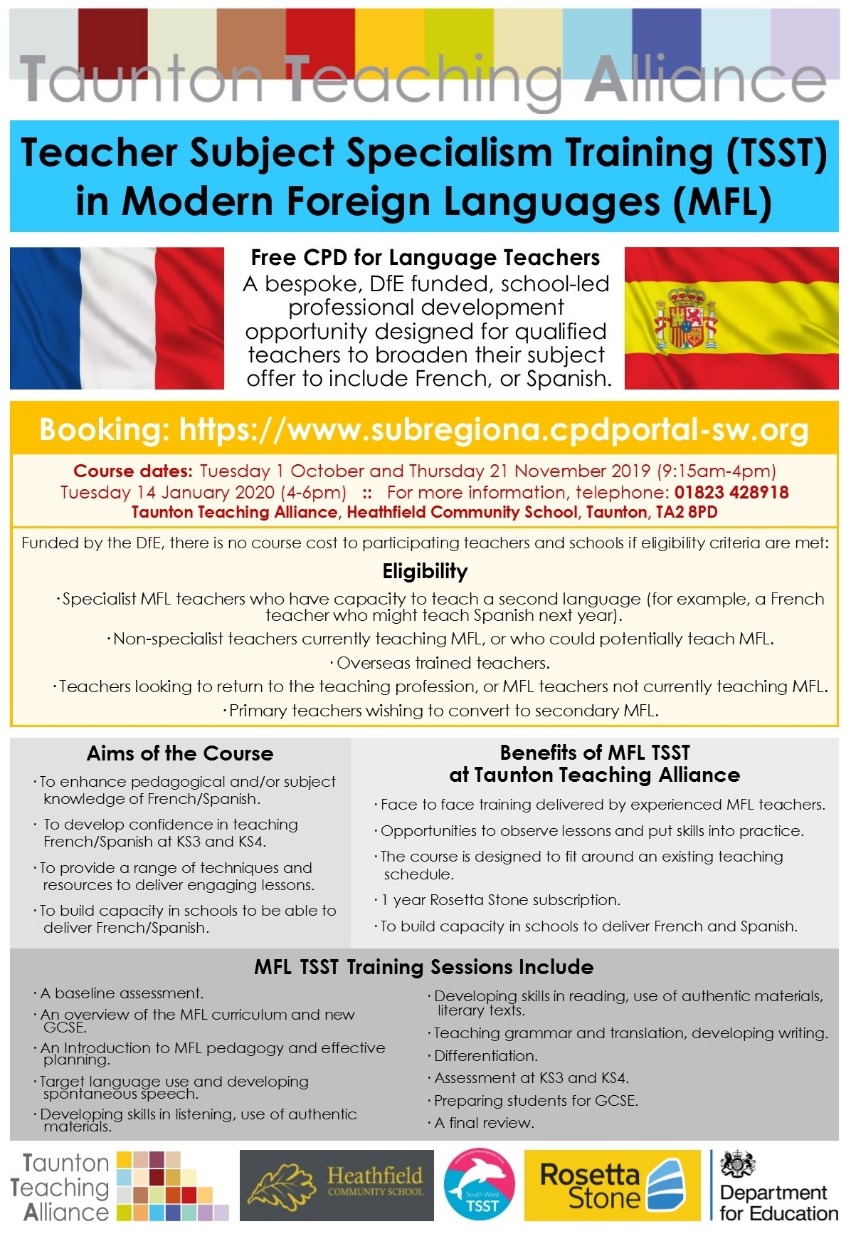 Modern Foreign Languages Teacher Subject Specialism Training 2019 20 Starts October 2019
